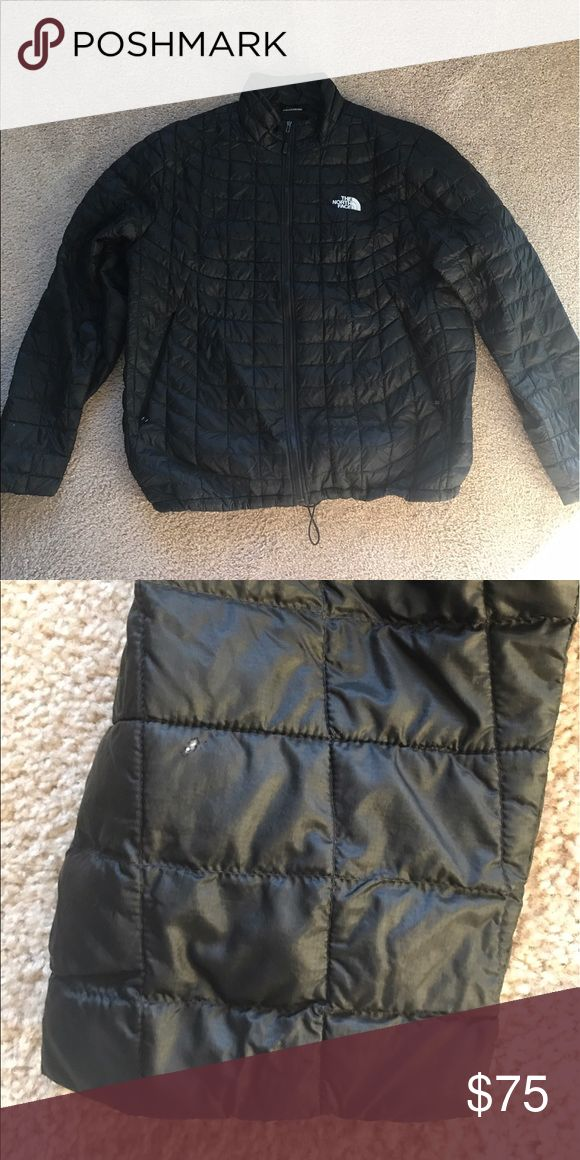 North Face XL black Thermoball jacket This is a sized  XL, gently used Thermoball jacket. The only issue is a snag on right sleeve shown in second picture, not very noticeable. North Face Jackets & Coats Ski & Snowboard