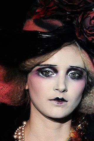 John Galliano makeup by Pat Mcgrath. glamour zombie
