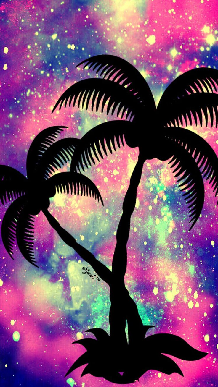Galaxy palm tree iphone android wallpaper i created for the app top chart wallpaper my - Palm tree wallpaper for android ...