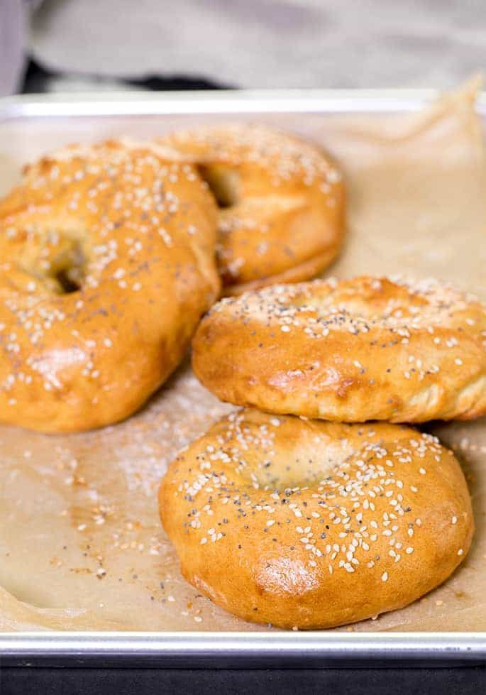 "These authentic-tasting Paleo bagels have no gluten, grains or dairy, but you'd never know it wasn't the ""real thing."" Just a few ingredients, including almond and tapioca flours, are all it takes!"