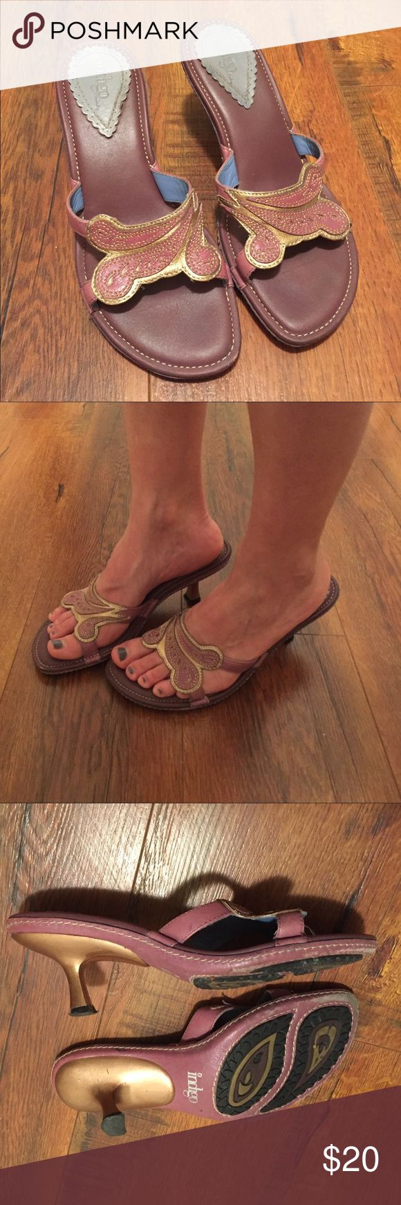 Clarks Sandals, 1 inch heel Showing signs of wear, but still cute, comfy, and have some wear left in them. I stopped wearing heals as much and need to clean out closet. Clarks Shoes Sandals