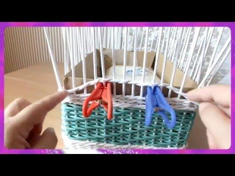 How to Make a Basket from Newspaper tutorial Návod na pletené z papíru Cestería…