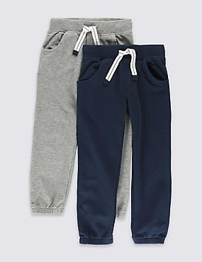 2 Pack Cotton Rich Joggers (1-7 Years)