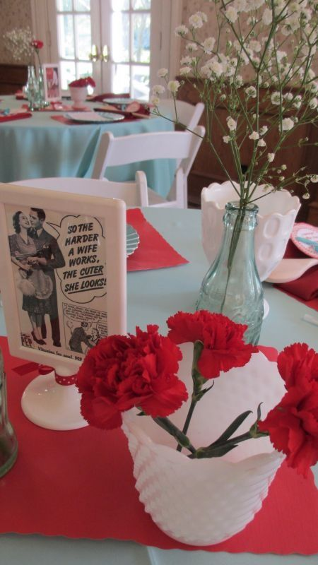 50's Housewife Retro Bridal Shower Decorations