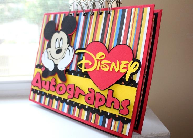 An amazing handmade Disney Autograph book