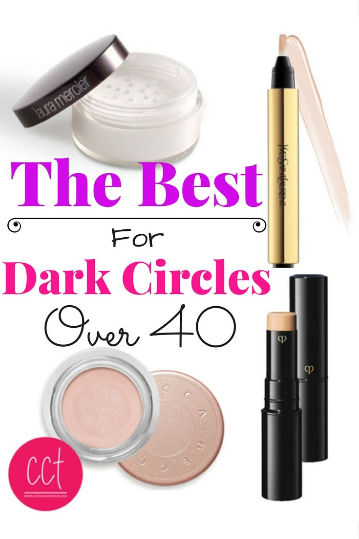 4 Products For Covering Dark Circles.  They have a cult following for good reason - makeup over 40