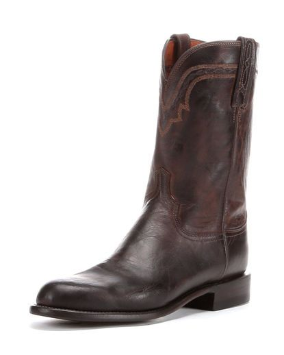 Lucchese  Men S Chocolate Brown Mad Dog R Toe Western Boots