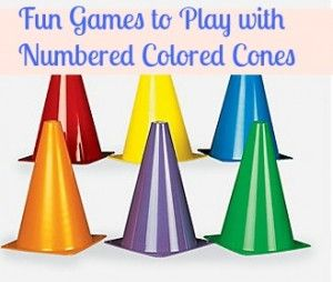 numbered traffic cones games lots of good ideas to get your kids moving thinking games. Black Bedroom Furniture Sets. Home Design Ideas