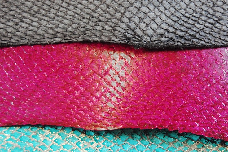 Fish Leather : salmon