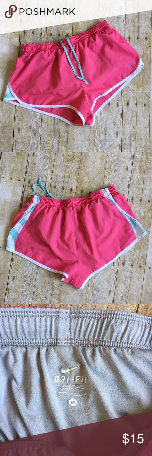 Nike Women's Pink Shorts, size medium Pink running shorts, dri-fit, size medium. Gently worn. No issues Nike Shorts