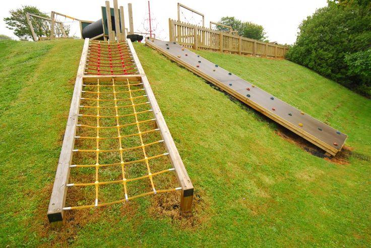 playground design on a slope | Embankment Net | Playline Playground Equipment