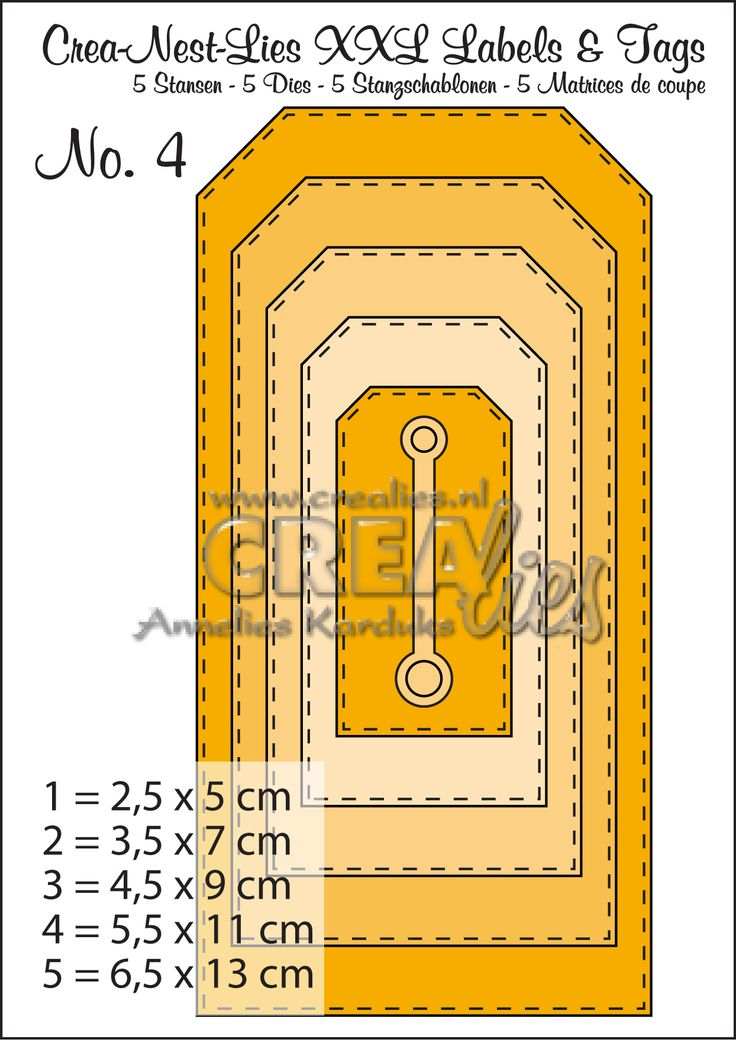 Crea-Nest-Lies XXL Labels & Tags no. 4: http://www.crealies.nl/detail/1162663/crea-nest-lies-xxl-labels-tags.htm