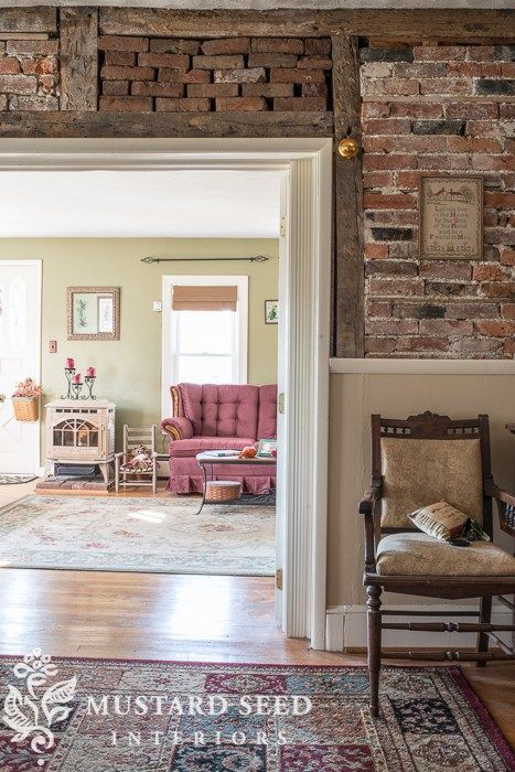 Sally's farmhouse living room | the before - Miss Mustard Seed