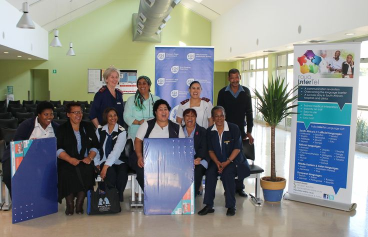 Staff members of TC Newman CDC second-time winners of Folio InterTel's monthly competition for the Cape Winelands in which 11 facilities competed.