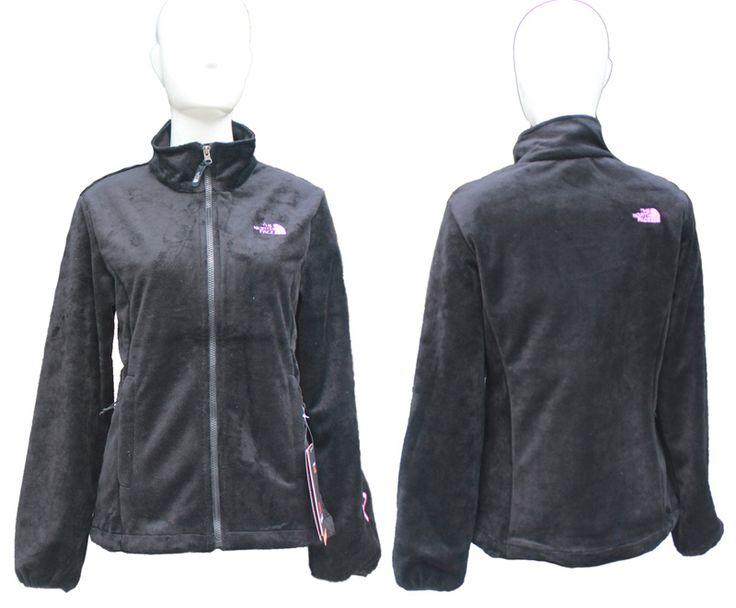 The North Face Pink Ribbon Logo Osito Jackets Black [TNF-Denali Sale 4163]