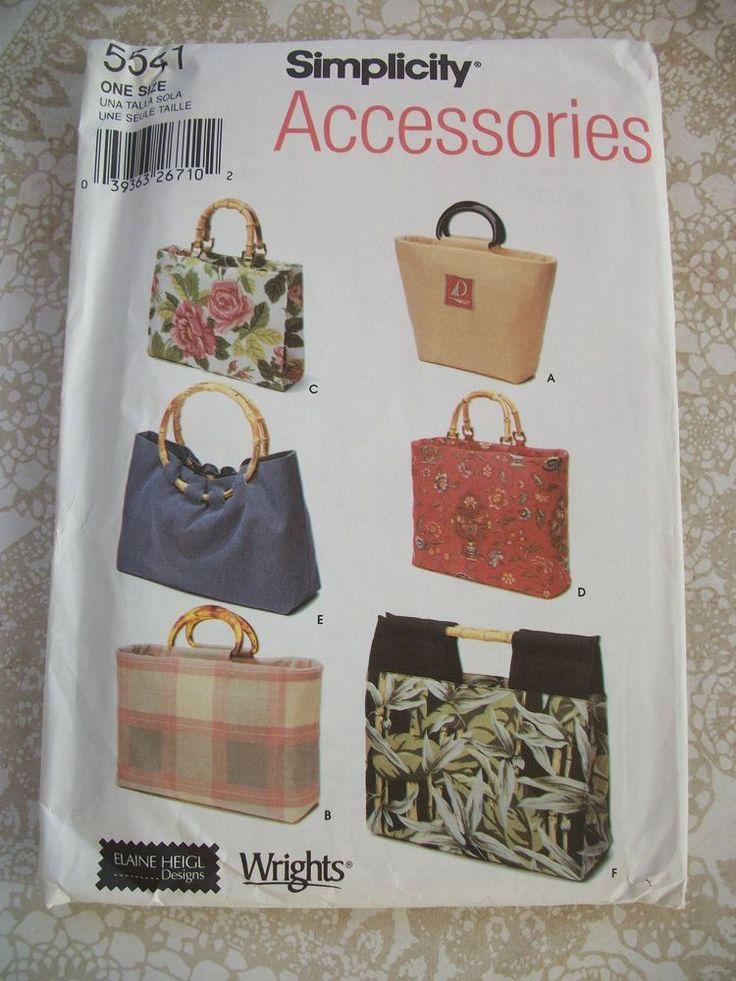 Simplicity Pattern 5541 Accessories Uncut. Elaine Heigl Designs #Simplicity