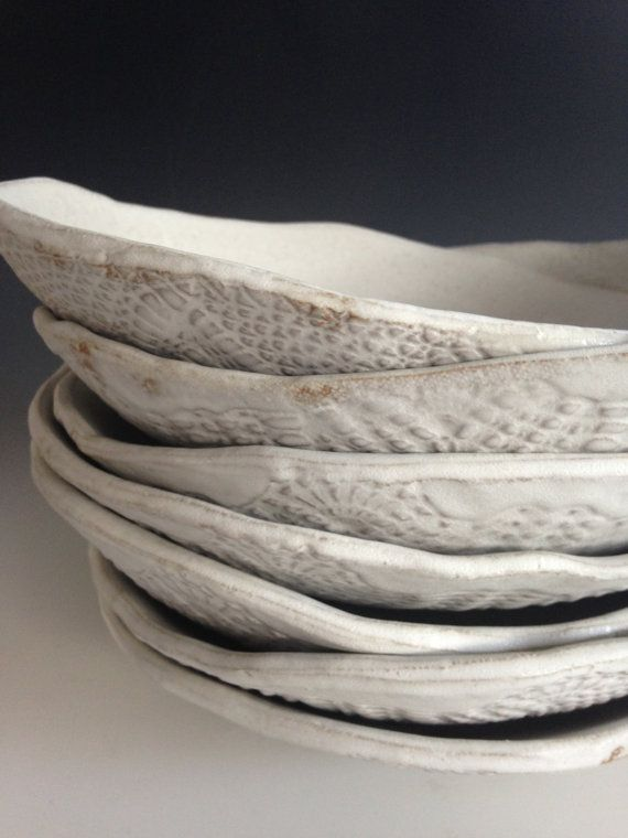 Ceramic white plates set of 4 Tableware Pasta by BlueDoorCeramics & 197 best Plate \u0026 Platter Ideas... images on Pinterest | Pottery ...