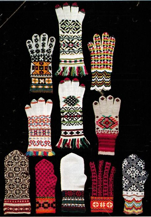 historymiss: Estonian mittens! I love the intricate colourwork here. Kind of tempts me to make some black, red and white N7 mittens. :p