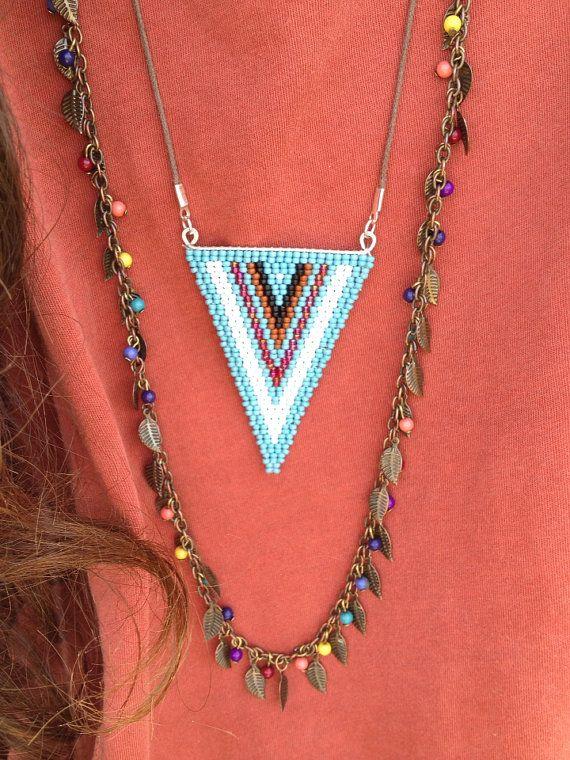 Triangle Pendant Necklace by WanderlustArtistry on Etsy