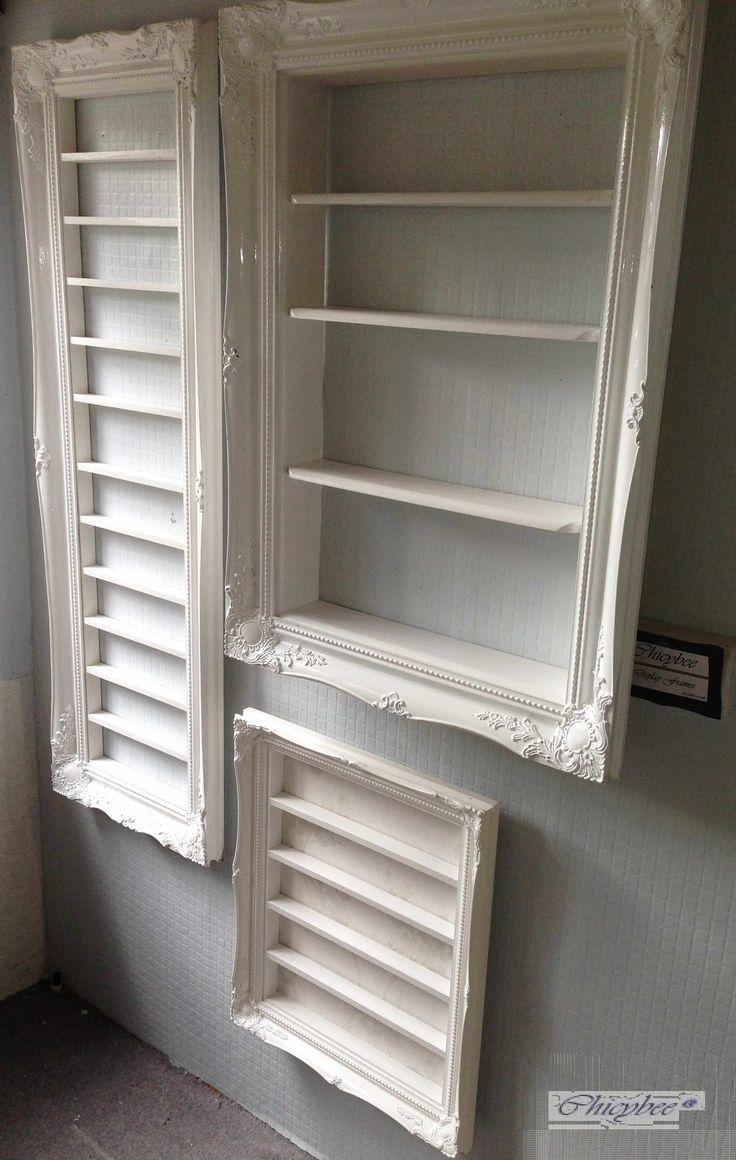 Weißer Hochglanz Barock Nagellack Display Rahmen – platzsparender Stil … sehr el … – M – Kosmetik Studio