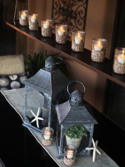 Creative Ways to Light up Mason Jars DIY Outdoor Chandelier via HGTV