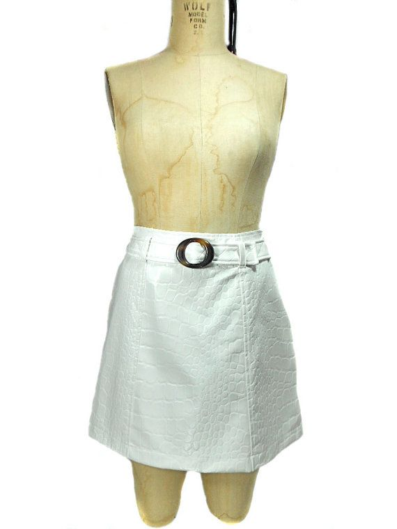 SALE 1990s Iceberg Jeans Faux Reptile Skirt by SemiPreciousGarnetts, $20.00 #vintage #etsy #1990s
