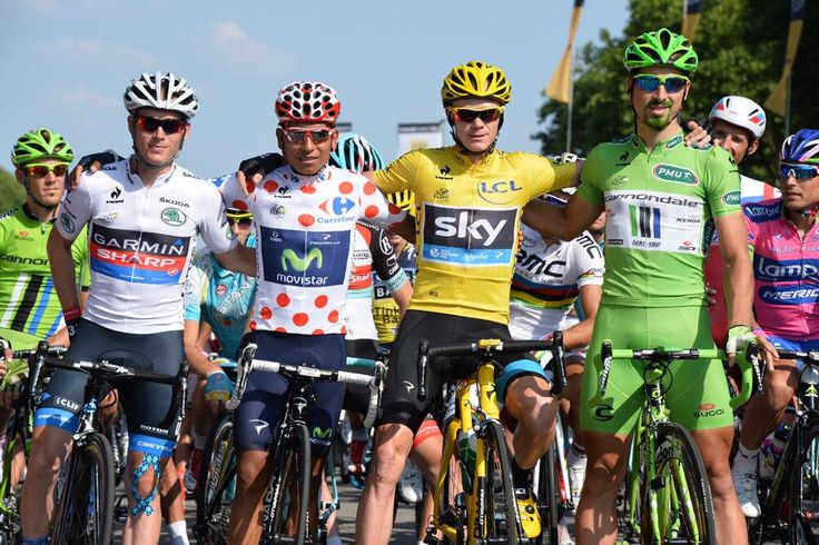 Andrew Talansky, Nairo Quintana, Chris Froome, Peter Sagan