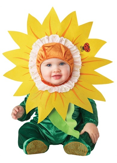 cute infant baby girls silly sunflower flower halloween costume - Halloween Costume For Baby Girls