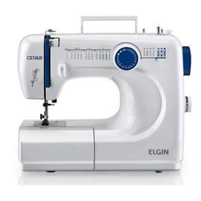 Máquina De Costura Elgin Portátil Jx 4000 Genius Branca 220V