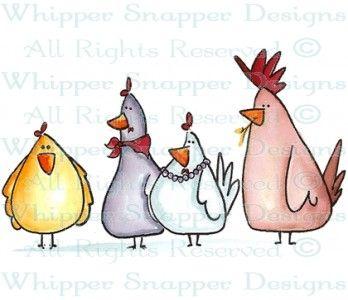 Chicken Clique - Chickens - Animals - Rubber Stamps - Shop