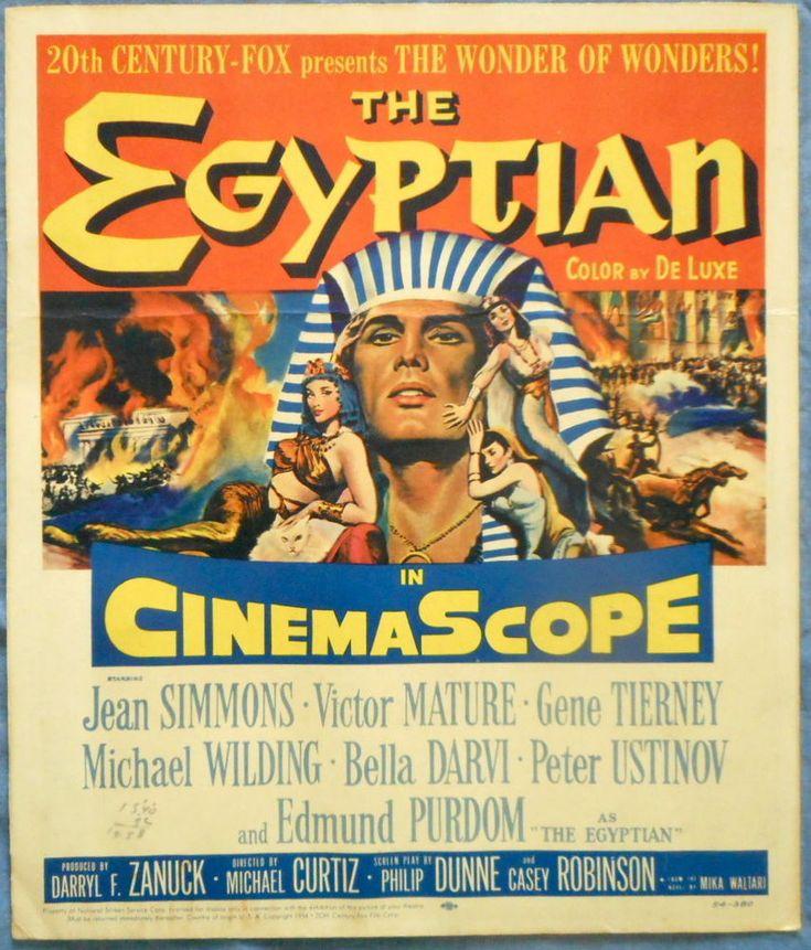 THE EGYPTIAN MOVIE POSTER 1954 Edmond Purdum Gene Tierney Bella Darvi