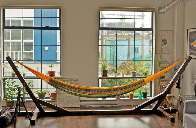 wooden hammock stand diy