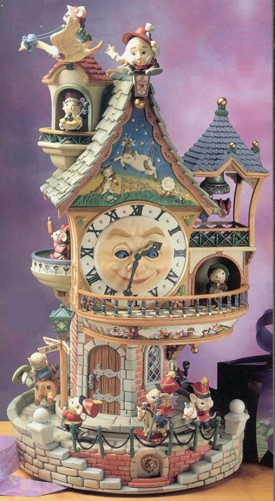 doll house christmas vignettes | Enchanted Clock Tower - Product Image
