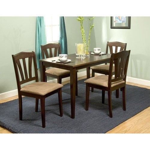 set and 4 upholstered chairs kitchen espresso cup chairs