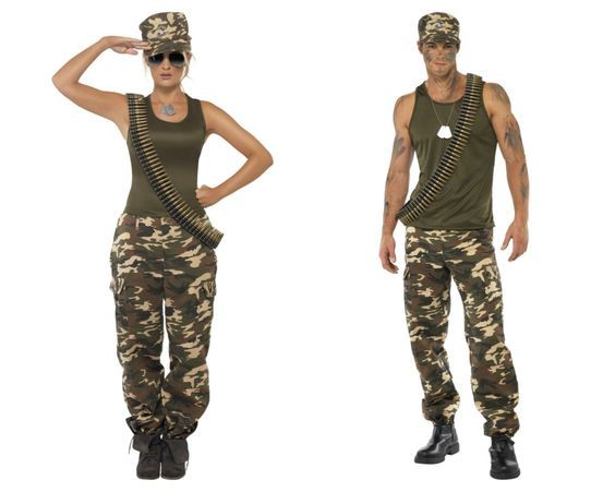 Sexy army couple costume-4954