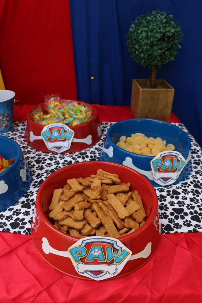Paw Patrol birthday party food! See more party planning ideas at CatchMyParty.com!