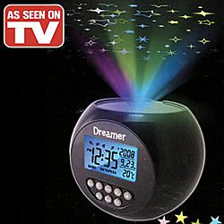 Projector Alarm Clock Creates Multi Color Starlight Patterns On Your Wall Or Ceiling So You