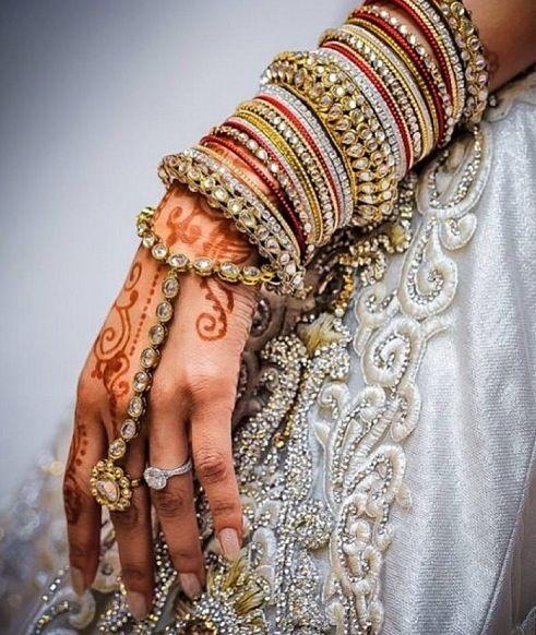 Bridal Jewelry, Haath Phool/Panja, Bangles