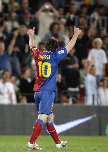 Lionel Messi Photos: FC Barcelona v Real Racing Club de Santander - La Liga