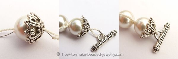 ending knotted pearls