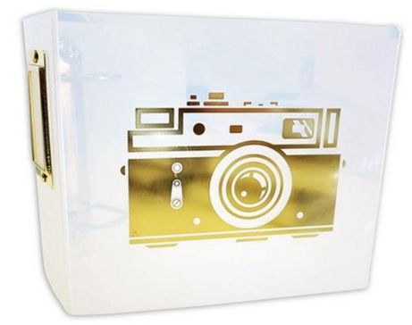 Teresa Collins Photo Gallery 3-Ring Album 4x4inch - Clear Camera