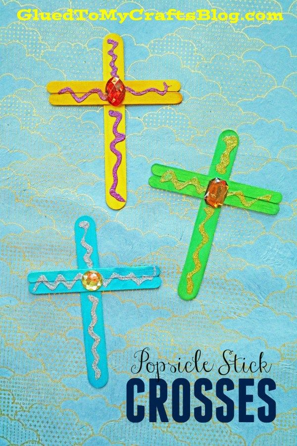 Popsicle Stick Crosses Kid Craft Idea For Easter Sunday School