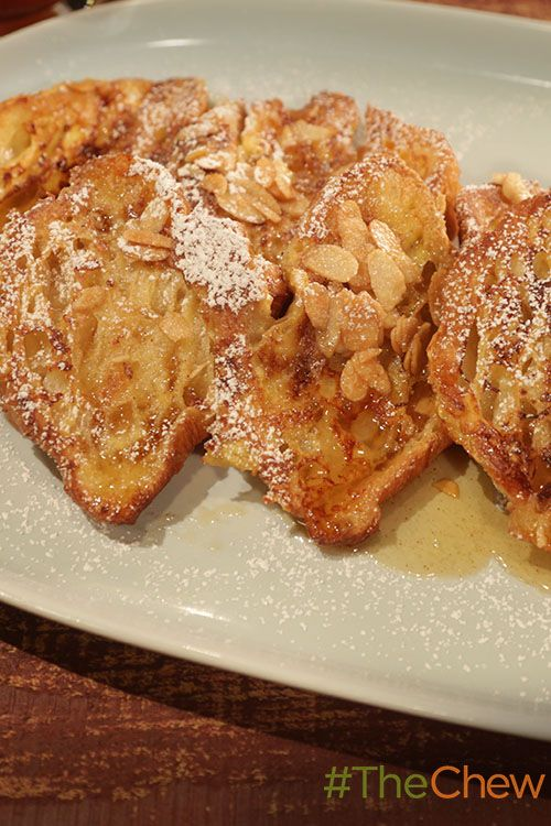 Use your leftover croissants for this delicious Almond Croissant French Toast with Almond Butter Syrup!