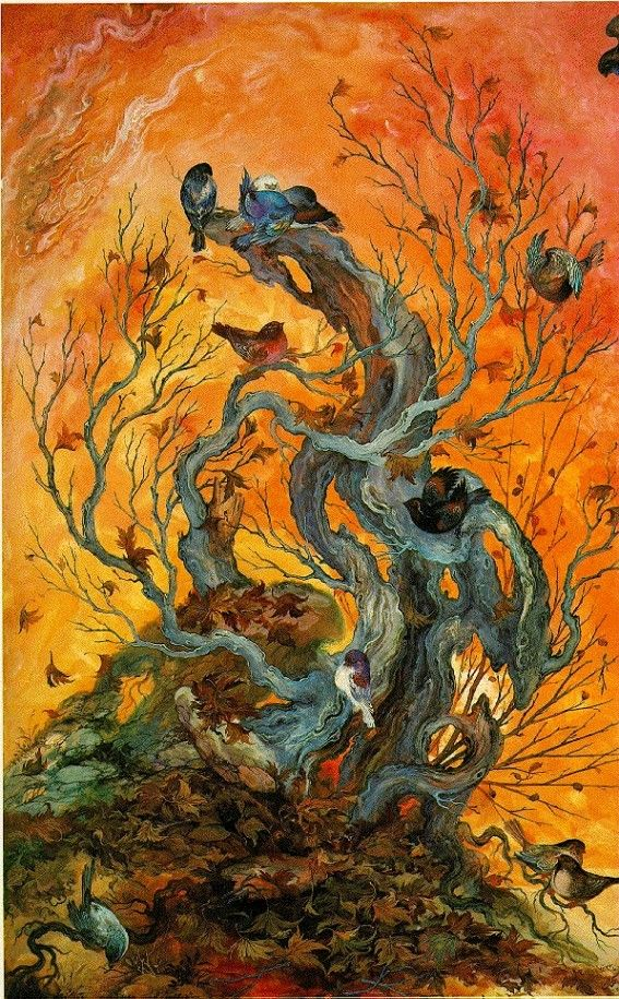 Iran Politics Club: Mahmoud Farshchian Online Gallery 1, Persian Miniature Paintings - Ahreeman X