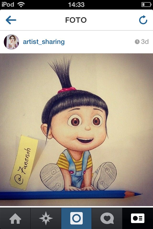 Drawing Agnes…. She's the BEST