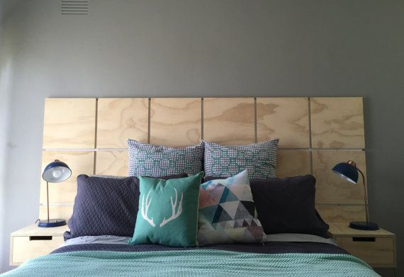 Handmade From Plywood This Headboard Is Perfect For A