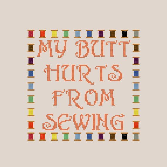 Funny Sewing Quote Cross Stitch Pattern by PlatoSquirrel on Etsy, $3.00