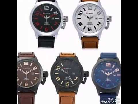 Curren M8270 Day Date Display Male Quartz Watch Leather Band and CURREN ...