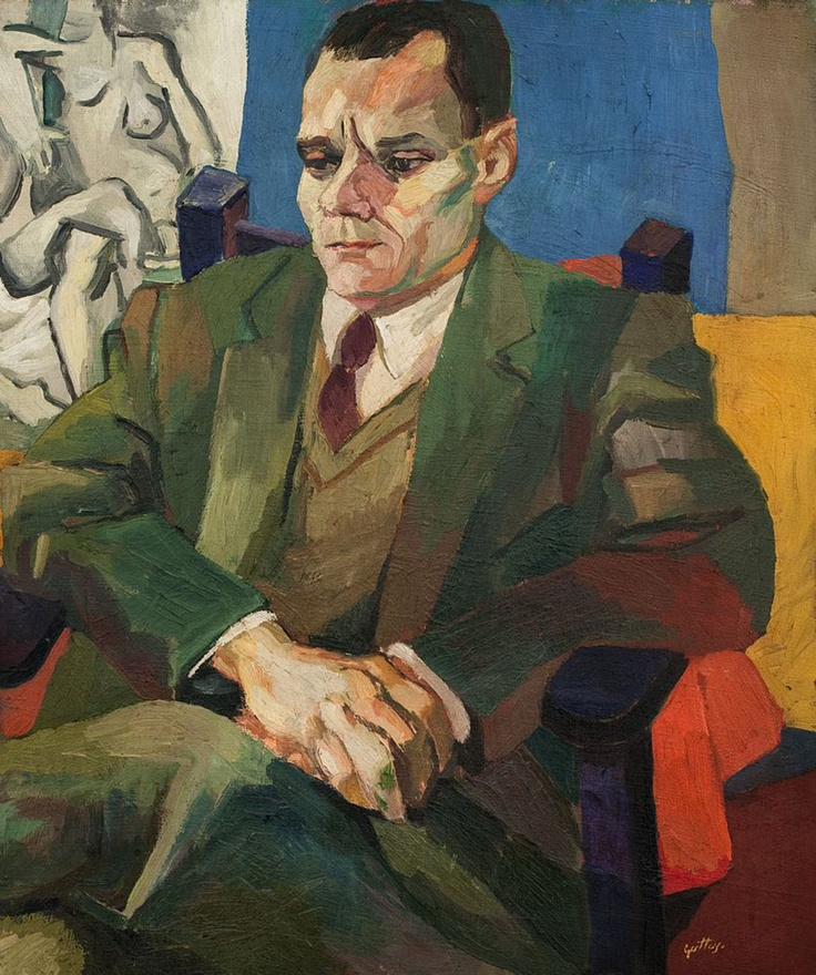 Portrait of Alberto Moravia by Renato Guttuso (1940)