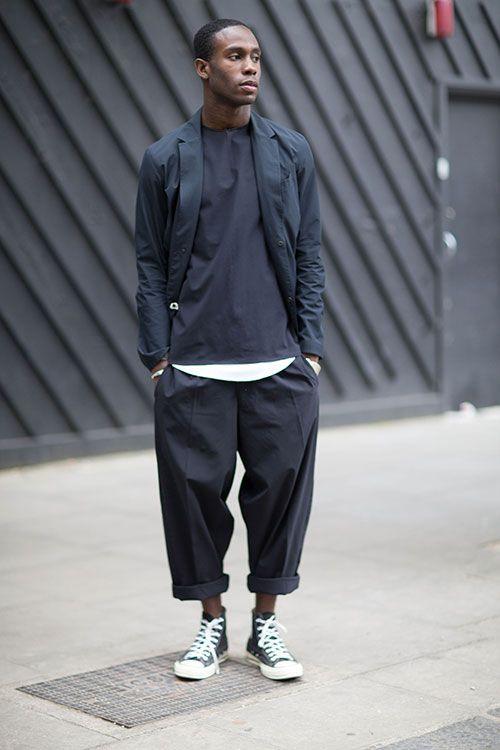 NOTE/IDEA : pants, tees, blazer - pattern/style